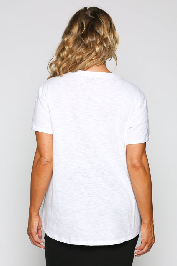 Crew Neck Tee in White
