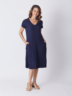 Stella Dress - Navy