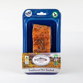 Hot Smoked Atlantic Salmon Cracked Pepper