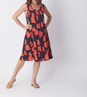 Swing Dress - Coral