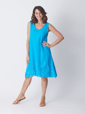 Swing Dress - Turquoise