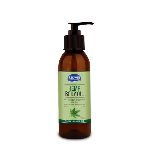 Redwin Sensitive Skin Hemp Body Oil 125mL