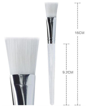 Cosmetic Facial Skin Care Brush - Clear / White