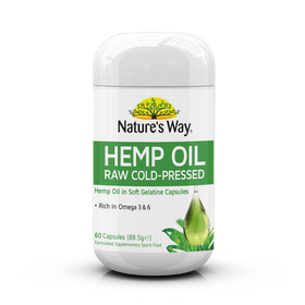 Nature's Way Superfoods Pure Hemp Oil 1000mg Capsules 60s