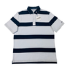 Slate / White 100% Cotton Mens Polo