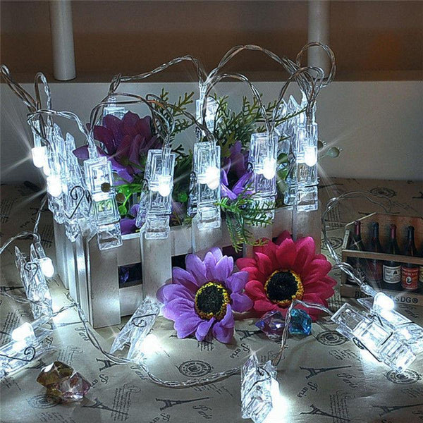 USB 3M 20-LED Peg-Clip String Lights