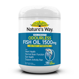 Nature's Way Odourless Fish Oil 1500mg 200 Capsules