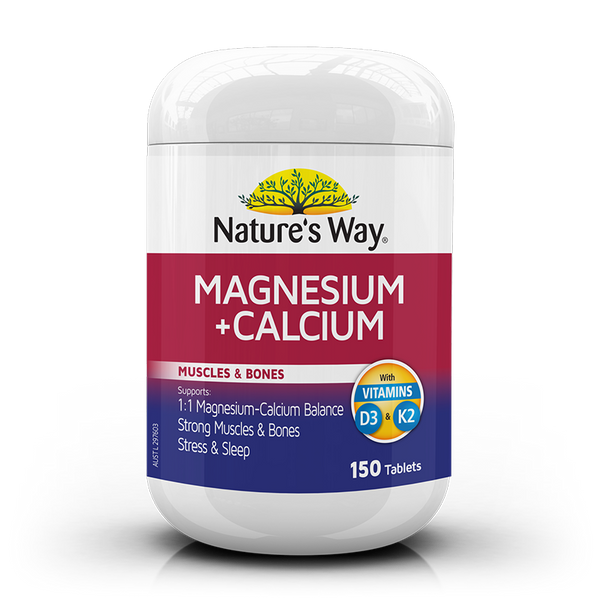 Nature's Way Magnesium + Calcium 150 Tablets
