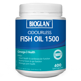 Bioglan Odourless Fish Oil 1500mg 400s