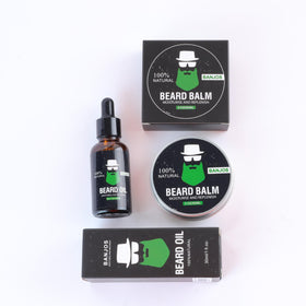 Natural Beard Oil & Balm - Combo