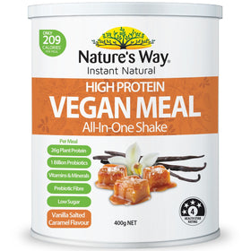 Instant Natural Protein Vegan Meal Salted Caramel 400g