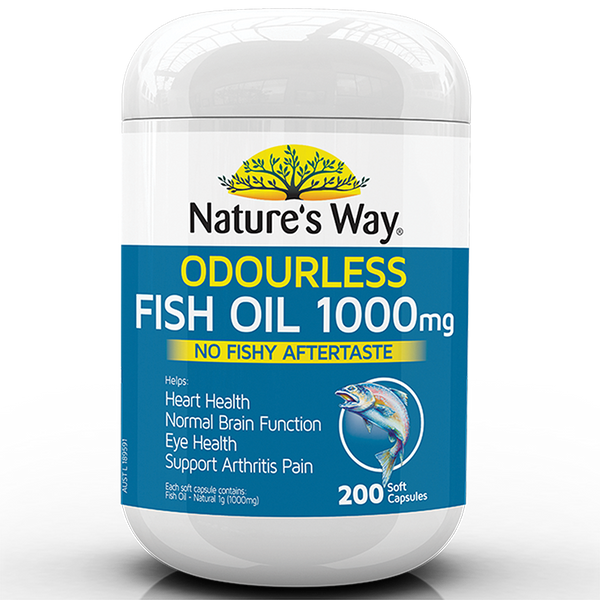 Nature's Way ODOURLESS FISH OIL 1000mg 200 Capsules
