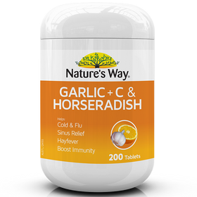 NATURE'S WAY GARLIC + VITAMIN C & HORSERADISH 200s