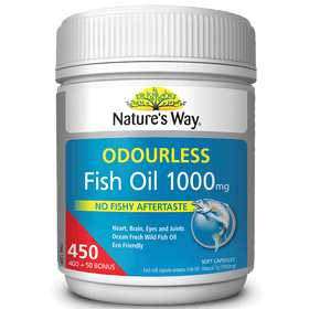 Nature's Way Odourless Fish Oil 1000mg 450 Capsules