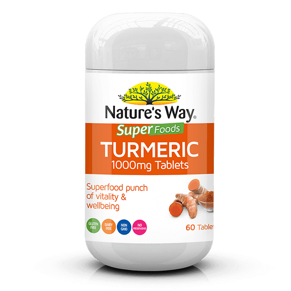Nature's Way  SUPERFOODS TURMERIC TABS 1000mg 60s