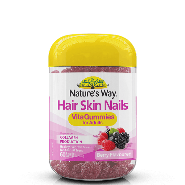 NATURE'S WAY ADULT VITA GUMMIES HAIR SKIN NAILS 60s