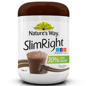 NATURE'S WAY SLIMRIGHT SHAKE CHOCOLATE 375g