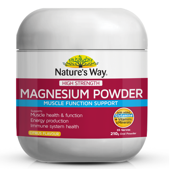 Nature's Way Magnesium High Strength Magnesium Powder 210g