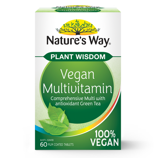 Nature's Way Plant Wisdom Vegan Multi 60 Tablets