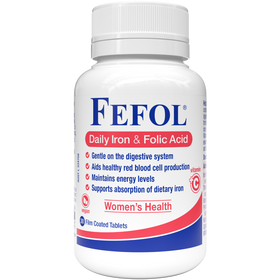 Fefol Daily Iron & Folic Acid 30 Tablets