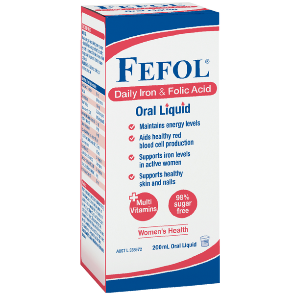 Fefol Daily Iron & Folic Acid Oral Liquid 200mL
