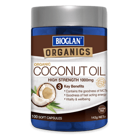 Bioglan Organics Coconut Oil Tablets 100s