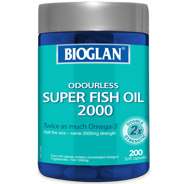 Bioglan Odourless Super Fish Oil 2000 200s