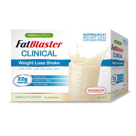 Naturopathica FatBlaster Clinical Weight Loss Shake Vanilla Flavour 954g 18 Pack