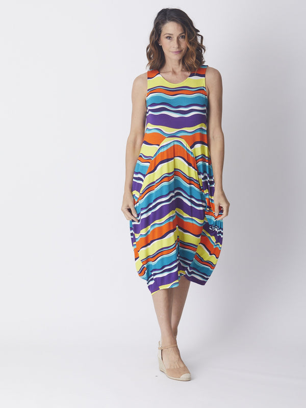 Gaz Dress - Multi/Mandarin