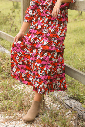 Aaliyah Frill Skirt in The Woods