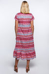 Adani Dress in Vertical Garden Pink
