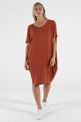 Betty Basics Maui Dress in Terracotta