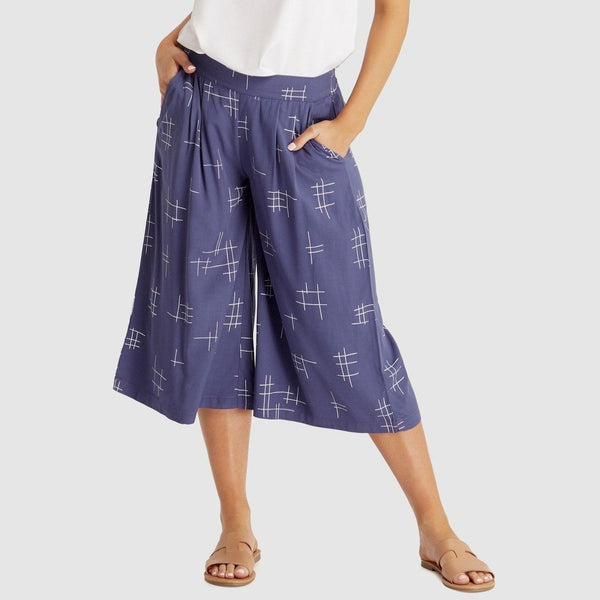 Woven Bamboo Culottes