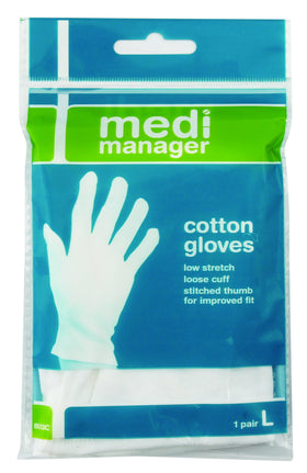 Cotton Gloves Single Pair Large