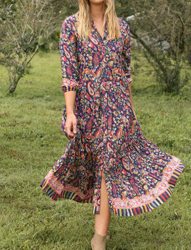 Bella Tiered Dress in Boheme