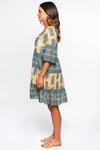 Brianne Frill Dress in Tuscan Sun