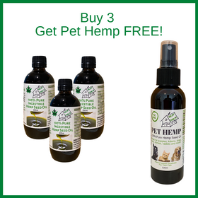 Buy 3 Hemp Seed Oil 200ml and get a Pet Hemp 125ml FREE!