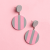 Garden Party Striped Disc Earrings