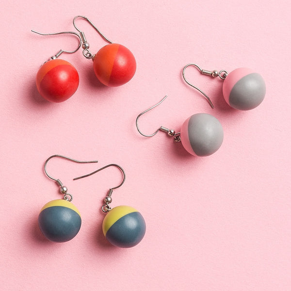 Garden Party Two Tone Drop Earrings