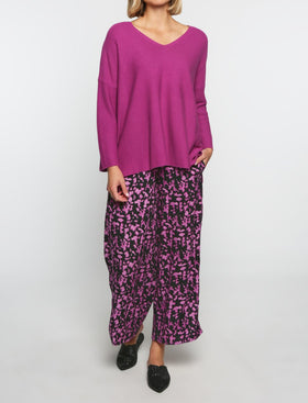 Camille Wide Leg Pants in Zambia Fuchsia