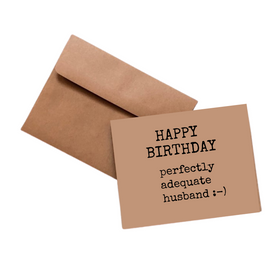 Simpli Funny Husband Bday Kraft Card