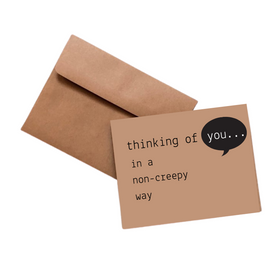 Simpli Funny Thinking of You Kraft Card