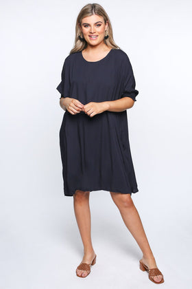 Cherie Oversized Dress in Navy