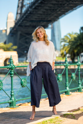 Lily Wide Leg Pant in Indigo