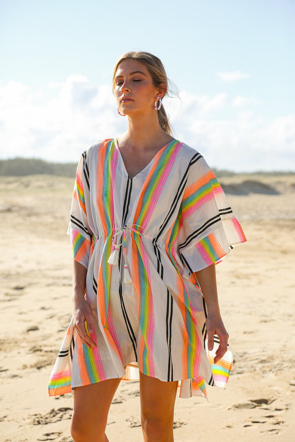 Coral Shift Kaftan in Cancun