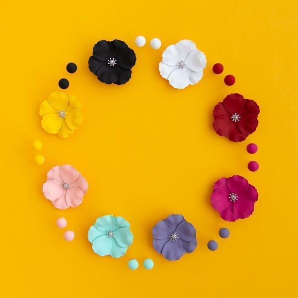 Bloom Petunia Brooch (8 Colours Avail)
