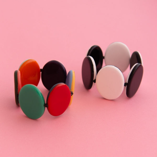 Contrast Flat Disc Bangle (2 Colours Avail)