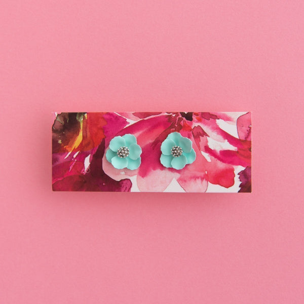 Mid Bloom Stud Earrings (16 Colours Avail)