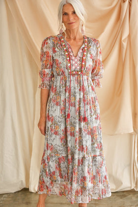 Deanna Maxi Dress in Fresco
