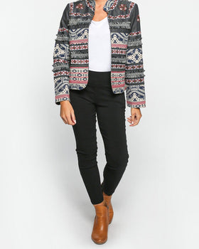Deidre Embroidered Jacket in Slate
